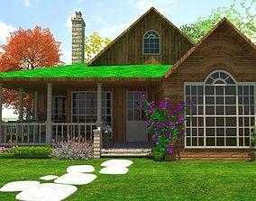 Log Hut Cottage 3D