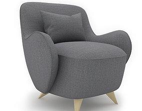 vladimir kagan barrelswivel chair 3D