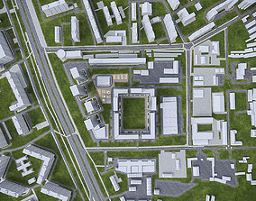 Urban Area 02 3D asset game-ready