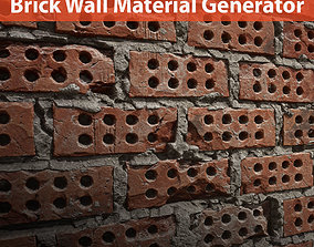 3D Brick wall material generators