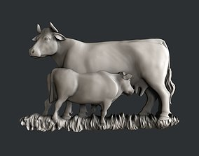 3d STL models for CNC router cow