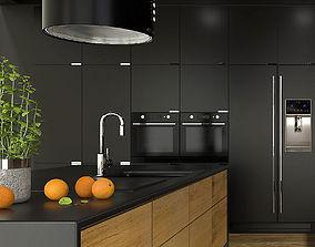 3D model Modern kitchen interior