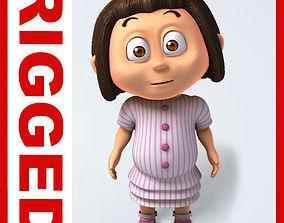 3D Girl baby cartoon rigged 05