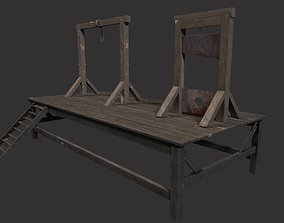 Gallows and Medieval Guillotine - Torture Pack 3D model