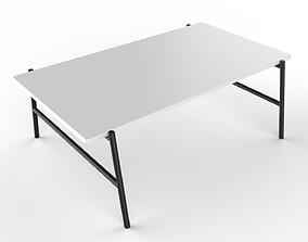 3D model Center Table Black And White