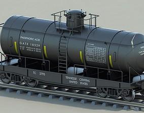 3D model Railway freight Tank wagon
