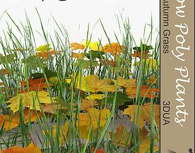 Autumn grass ground filler 3D asset