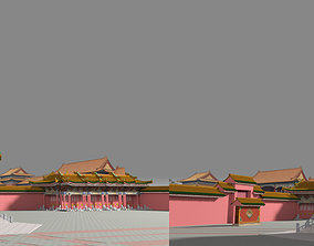 Forbidden City Chinese style 3D model