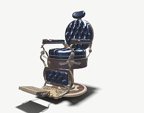 Barber Chair chair 3D model game-ready