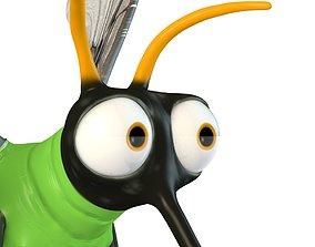3D model Cartoon Mosquito