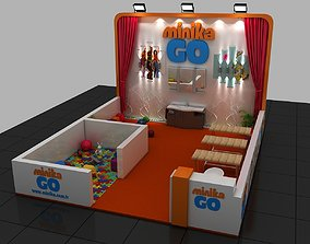 3D model Exhibition Baby Fair Stand 6X5