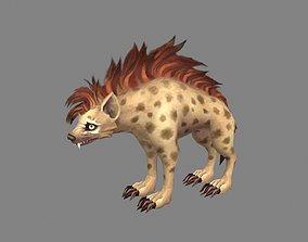 Cartoon hyena 3D asset