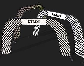 Race Air Gate - Game Ready 3D asset