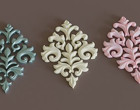 wood 3D Decorative Ornamentation 1