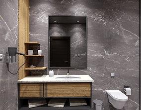 Amazing Bathroom 3D model closet towel