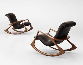 3D Vladimir Kagan Contour Rocking chair 175F