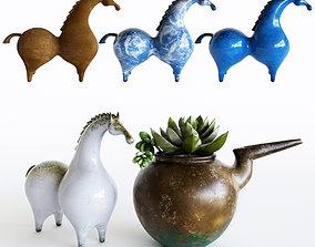 decoration 3D model pottery horse