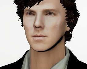 Sherlock - Benedict Cumberbatch 3D model low-poly