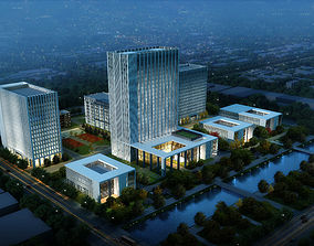3D model architectural Office buildings