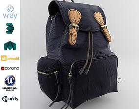Leather and Nylon Rucksack for Women 3D model