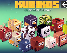 KUBIKOS - 22 Animated Cube Mini Animals 3D asset