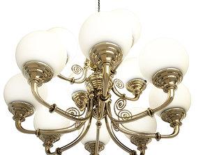 Brass Pendant Light 3D model