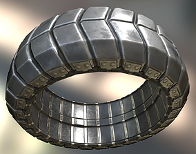 Futuristic Tire Metal Version 3D asset