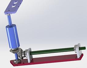 The helical gear drive mechanism 3D model