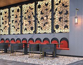 Corona Scene Cafe Bistro Design 3D model