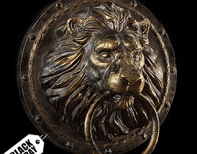 Lion Head Door Knocker 3D asset