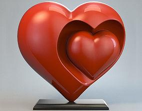 stl Heart Sculpture Love Red P 3D print model