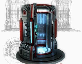 3D asset Teleport sci-fi low poly