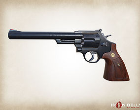 3D model AAA FPS 44 Magnum Revolver Game-Ready