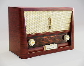 Vintage radio from 1956 3D