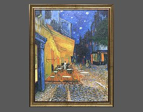 Bronze Frame with Stretcher and Van Gogh Oil 3D model