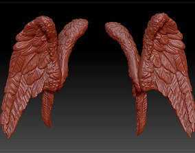 angel wings sculpture 3D print model