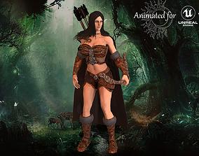 Archer Girl 3D asset