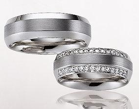 Wedding rings 193 3D print model