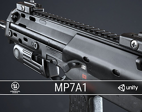 PBR MP7A1 PDW 3D asset realtime