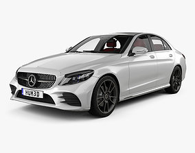 Mercedes-Benz C-Class AMG-line sedan with HQ interior 3D