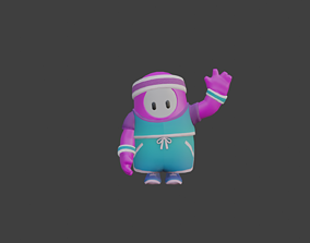 Rigged and Textured Fall guys Character With A 3D model 2