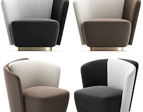 London Chair - Taupe 3d model game-ready