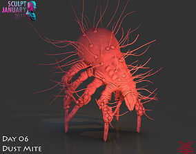 Dust Mite Timelapse And Model