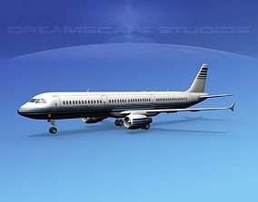 Airbus A321 Corporate 4 3D model