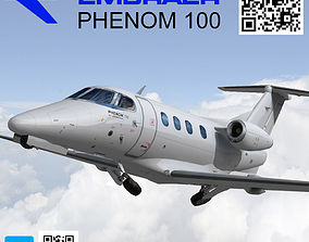 Embraer Phenom 100 Low poly 3D model