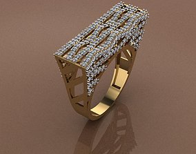 engagement Gold Ring 3D print model 3D print model