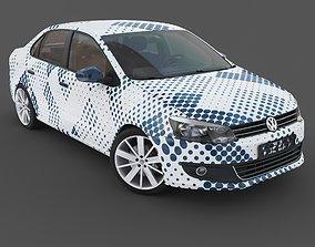 Volkswagen Polo sedan interior 3D model
