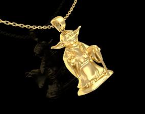 Master Yoda Star Wars Pendant Jewelry 3D printable model