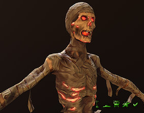 3D model animated game-ready Mummy