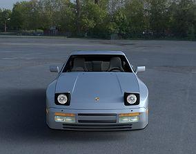 Porsche 944 S2 with Interior HDRI 3D model